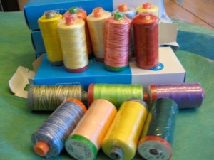 Liz's colours fro Aurifil